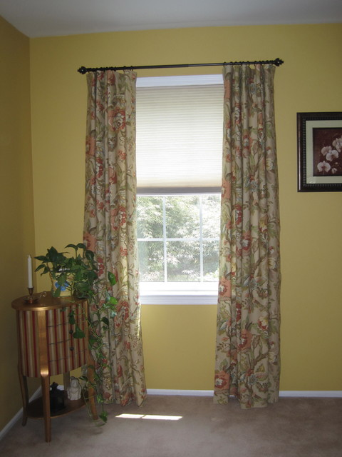 Window treatments traditional living room other by for Traditional window treatments living room