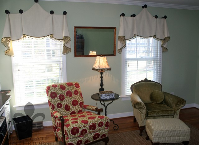 window treatments traditional living room other by