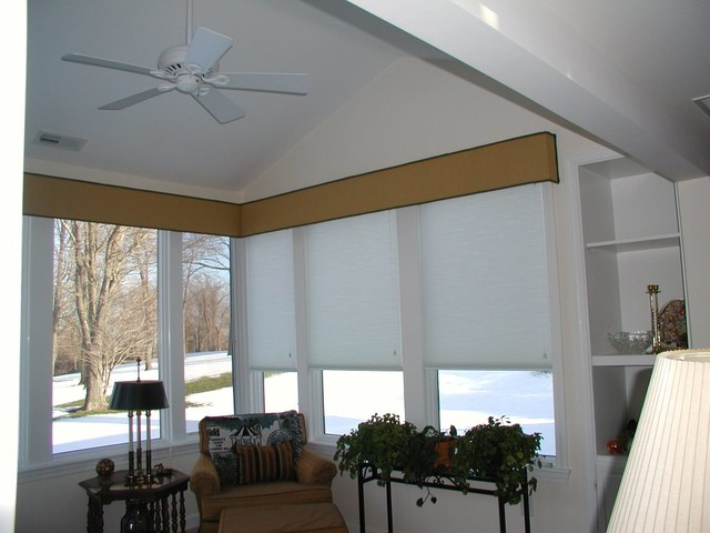 Window Treatments Contemporary Living Room Boston