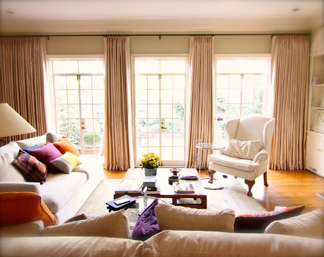Window Treatments Traditional Living Room Atlanta