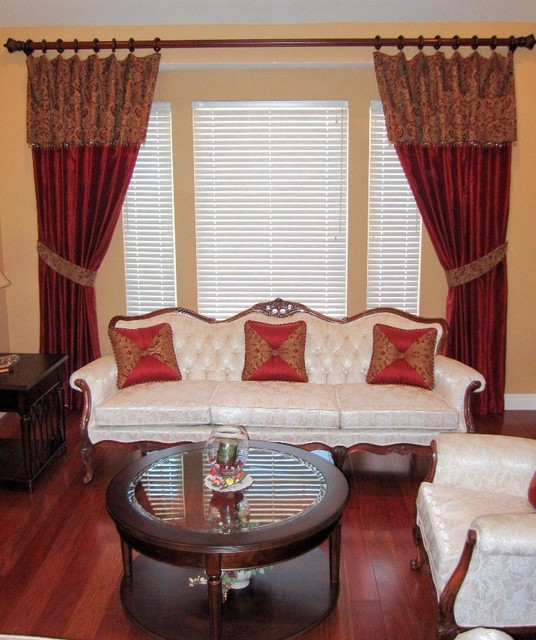 Window treatments for Traditional window treatments living room