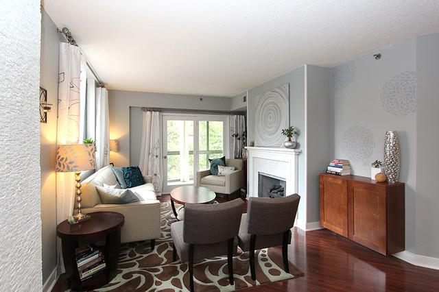 Windsor Plaza contemporary-living-room