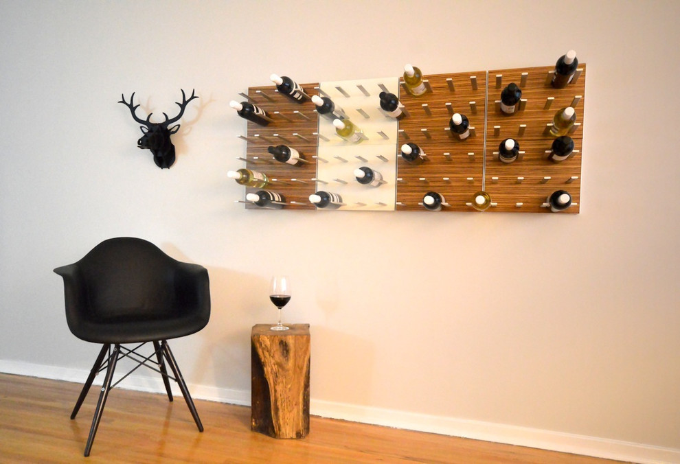 Wine Rack In The Mid Century Modern Inspired Home Midcentury Living Room Vancouver By Stact Wine Displays Inc
