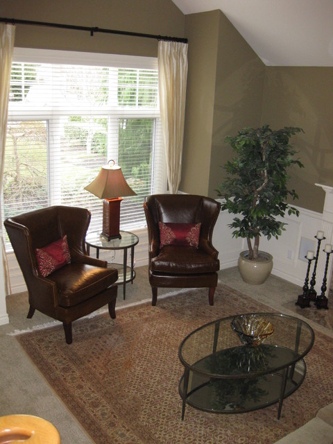 wingback chairs in living room - traditional - living room