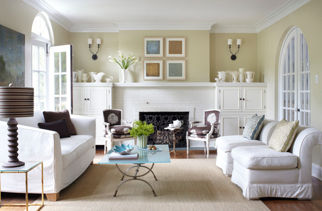 Winnetka Avenue Transitional Living Room