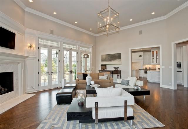 Winnetka Custom Remodel Transitional Living Room