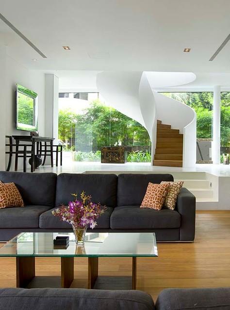 Winnetka Home Remodeling modern-living-room