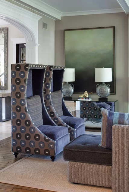 Winnetka Residence eclectic-living-room