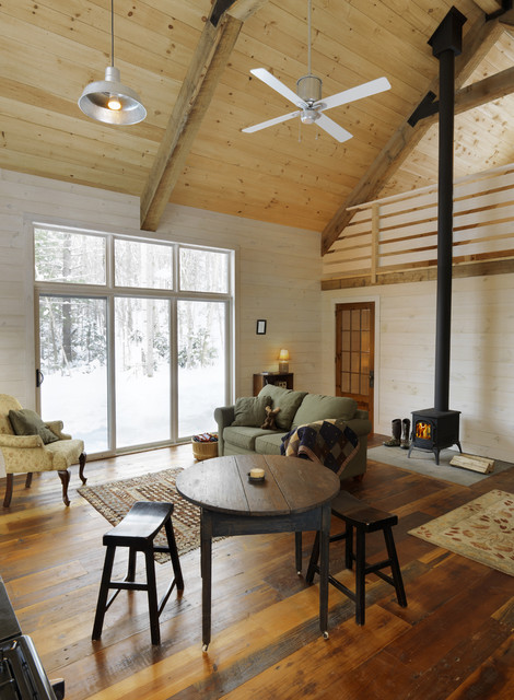 Winter Cabin eclectic family room