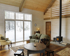 interior paint color for log cabin style greatroom. Black Bedroom Furniture Sets. Home Design Ideas