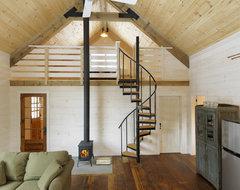 Winter Cabin rustic-living-room
