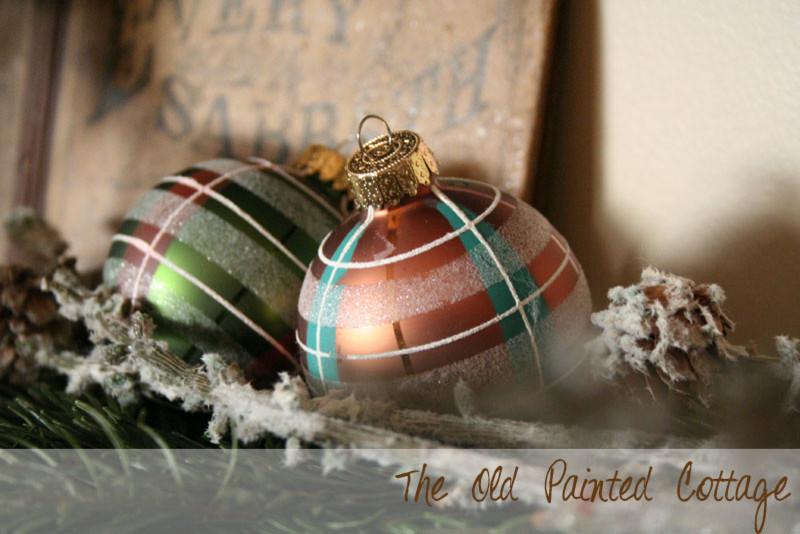 Winter Inspired Holiday Mantel 2013