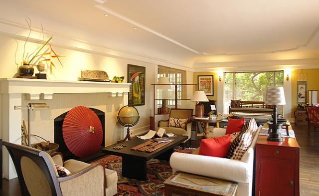 Wm f holland architect projects asian living room - Asian themed living room decor ...