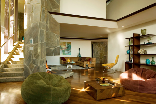Wolff House by architect John Lautner midcentury-living-room