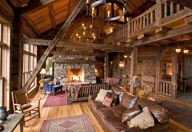 Woman Lake Rustic Living Room