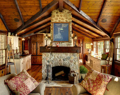 Woman Lake rustic-living-room