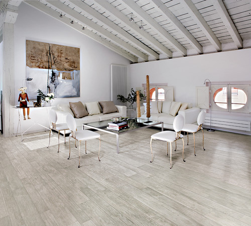 Scandinavian Living Room by Seattle Tile, Stone & Countertops Surface Art Inc