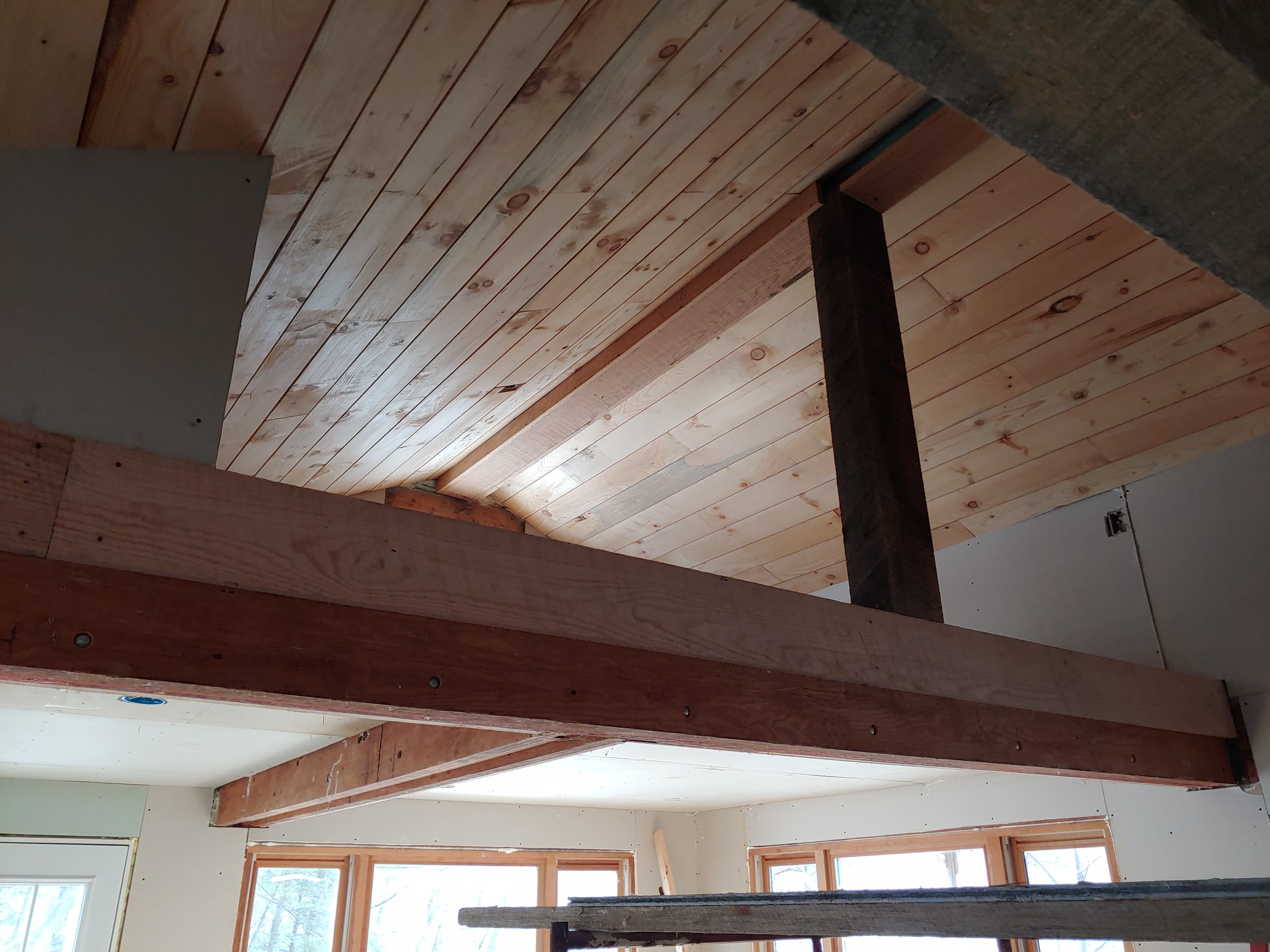 Wood Ceiling and Beams
