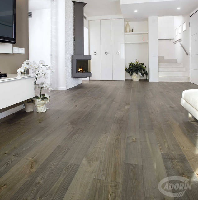 Wood flooring / Weathered Chestnut contemporary-living-room - Wood Flooring / Weathered Chestnut - Contemporary - Living Room