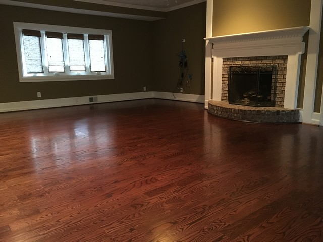 Wood Floors 4 Inch Red Oak Red Mahogany Stain
