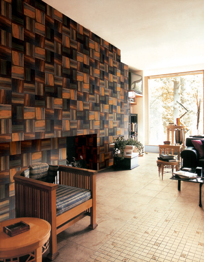 Tile Floor Designs For Living Rooms: Wood Living Room Wall