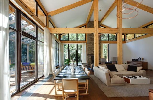 """""""Woodlark"""" House contemporary-living-room"""