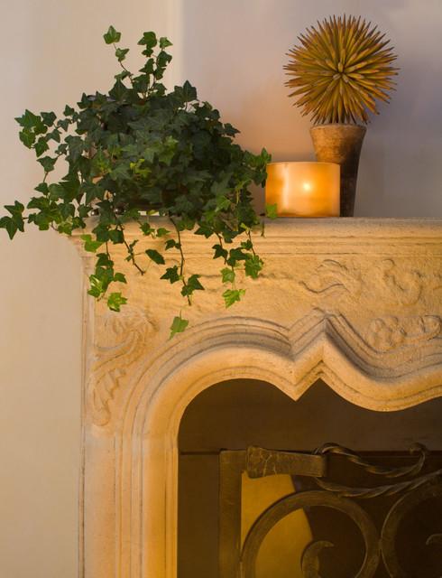 Woodley Road, Montecito mediterranean-living-room