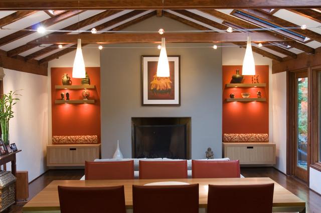 Woodside Residence contemporary-living-room