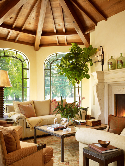 Woodside Residence traditional living room