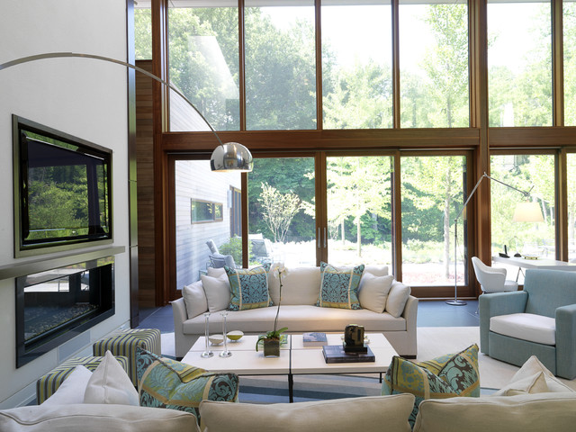 Woodvalley House - Interiors contemporary-living-room