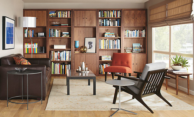 Woodwind Bookcases with Finch Chair by R&B