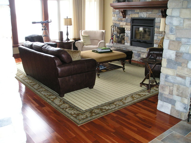 Wool Area Rug Craftsman Living Room