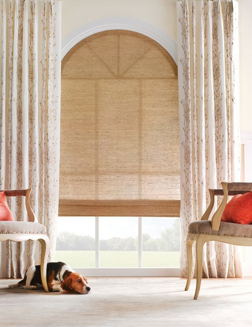 Woven Wood Shades living-room