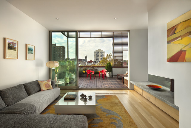 Wyckoff Penthouse Living Room And Deck Contemporary