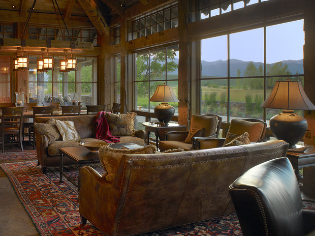 Wyoming Getaway Eclectic Living Room Jackson By Bruce Kading Interior Design