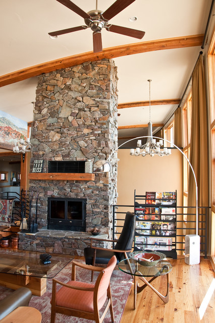 Wyoming Ranch House contemporary-living-room