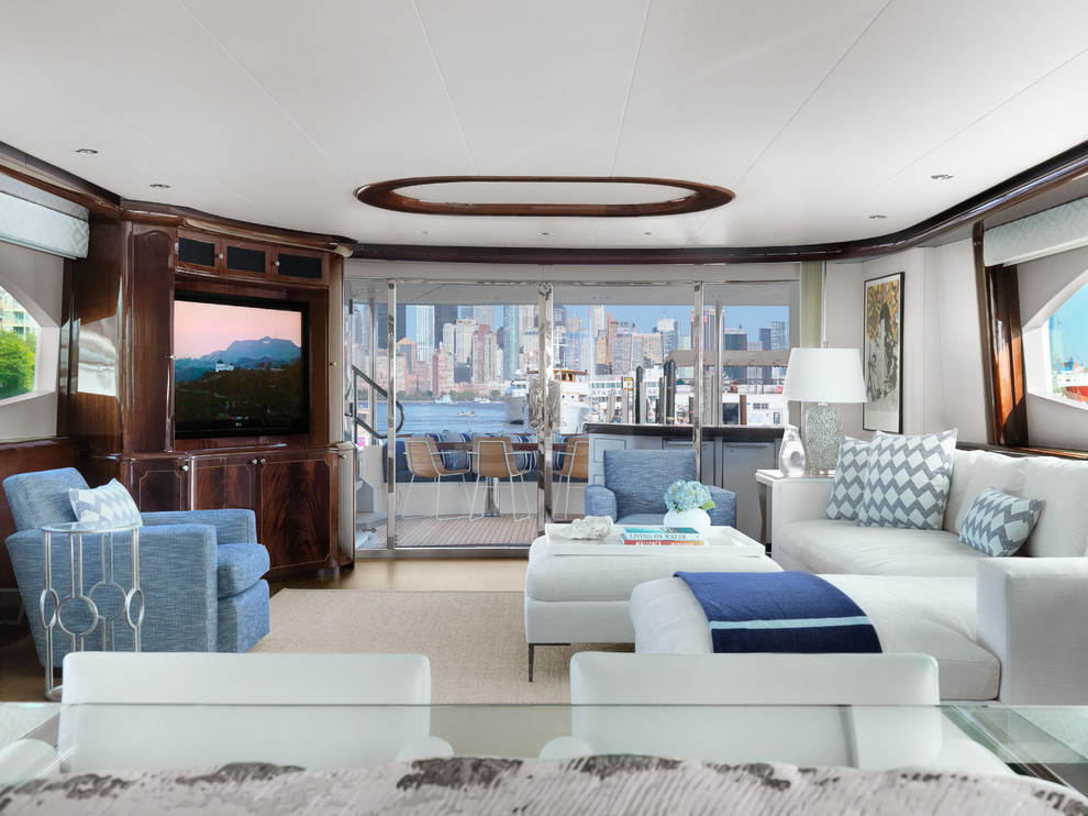 Yacht Beach Style Living Room St Louis By Castle Design
