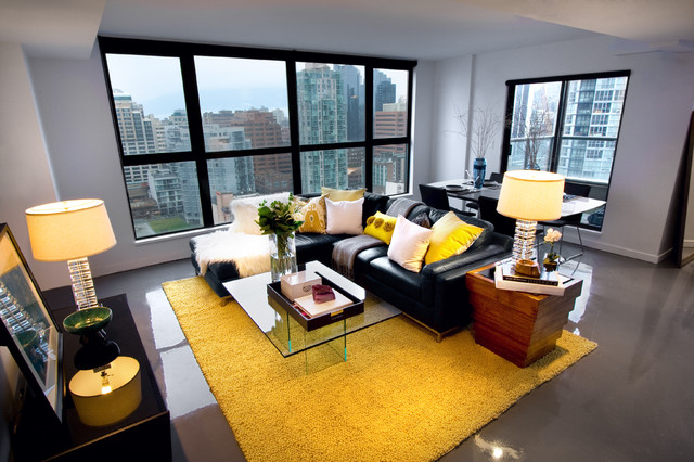 Yaletown Loft modern-living-room