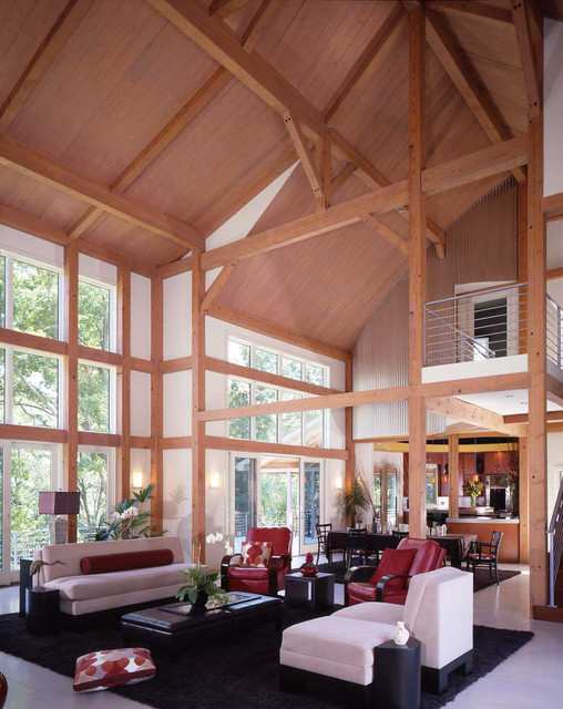 Yankee Barn Homes - Great Rooms contemporary-living-room