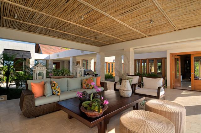 Yarari Tropical Living Room Other Metro By Constructora Aybar