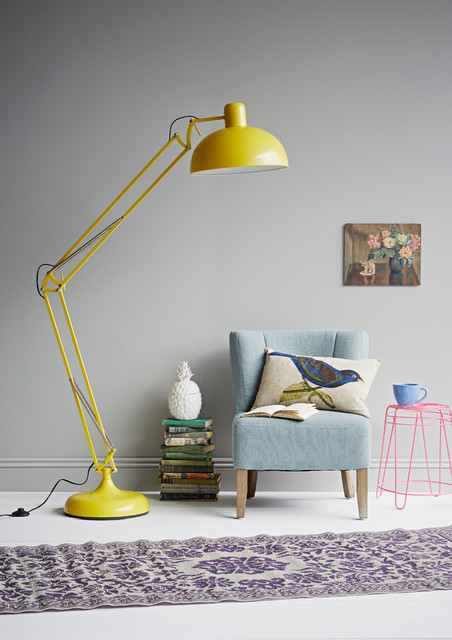 Yellow angle poise floor lamp eclectic living room london by yellow angle poise floor lamp eclectic living room aloadofball Gallery