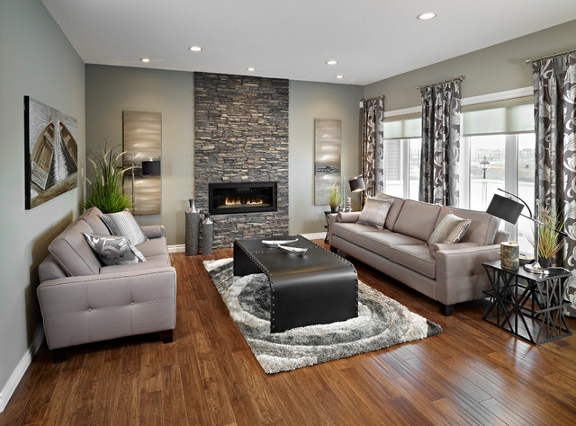 Yellowstone Park Royale II Show Home in Aurora contemporary-living-room