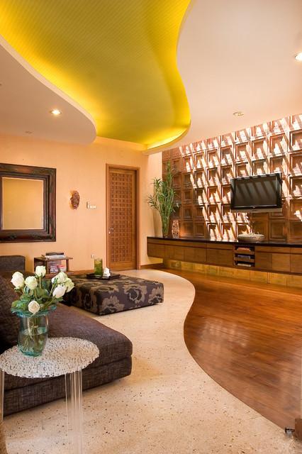 Yin & Yang Living Room eclectic-living-room