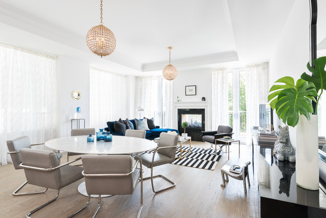 Yorkville Condo Eclectic Living Room Toronto By