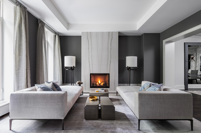 Yorkville Luxury Townhome Contemporary Living Room