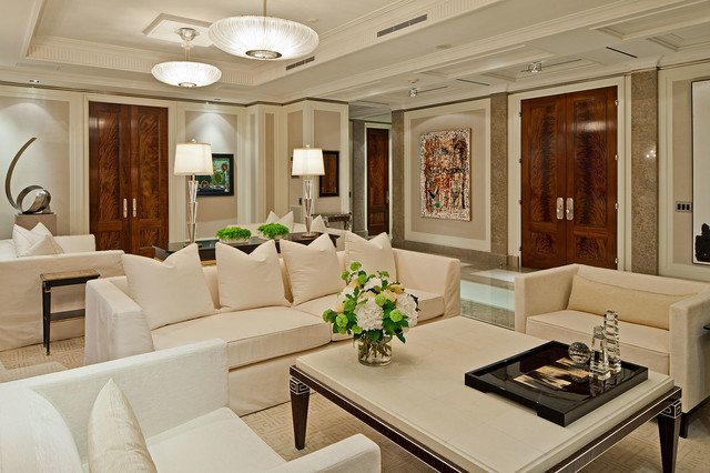 Yorkville Penthouse Condo - Transitional - Living Room - Toronto ...