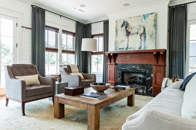 Youthful Haven Contemporary Living Room Charleston