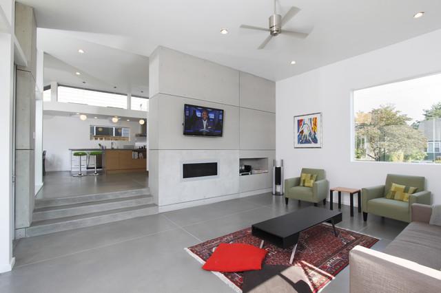 Z house modern living room seattle by stephenson for Modern home decor llc