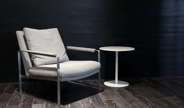 Zara Armchair With Ares End Table Contemporary Living Room