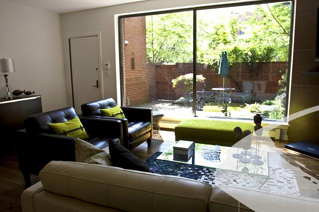 Zen city living room modern living room philadelphia for Living room design zen